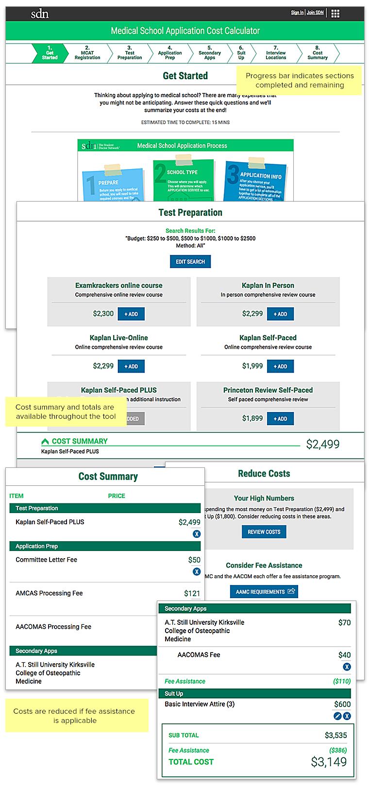 Product Design Work | Cost Calculator Web App